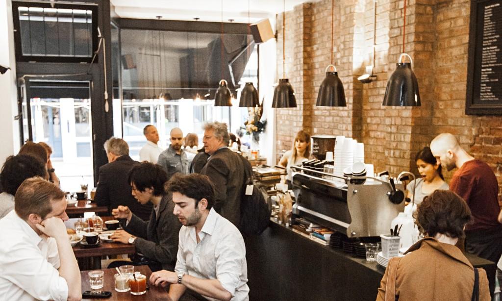 Coffee shop in west London